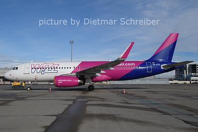 2021-01-22 HA-LYD Airbus A320 Wizzair