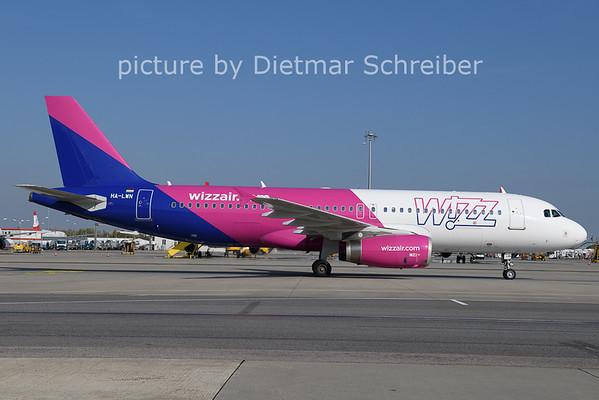 2020-10-20 HA-LWN Airbus A320 Wizzair
