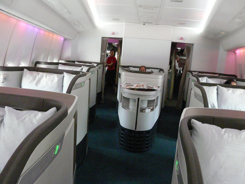 first class cabin front to rear