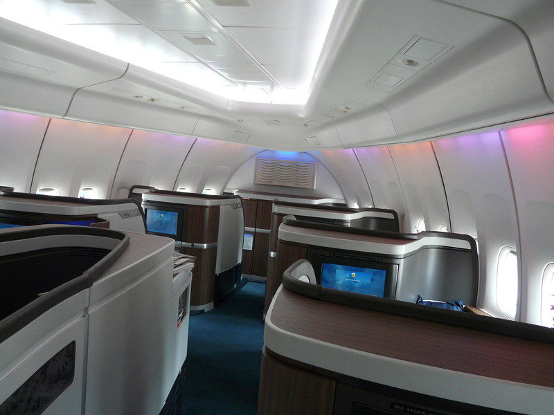 first class cabin rear to front