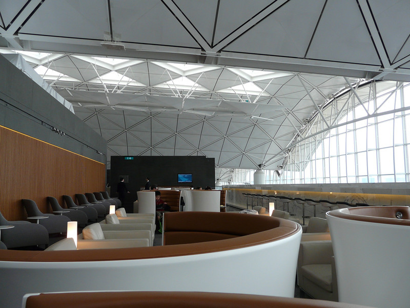 "Hong Kong first class lounge ""The Wing"" near gates 1-4"