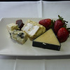 Cobram cheddar, South Cape Blue, Tasmanian Heritage Washed Rind and some strawberries