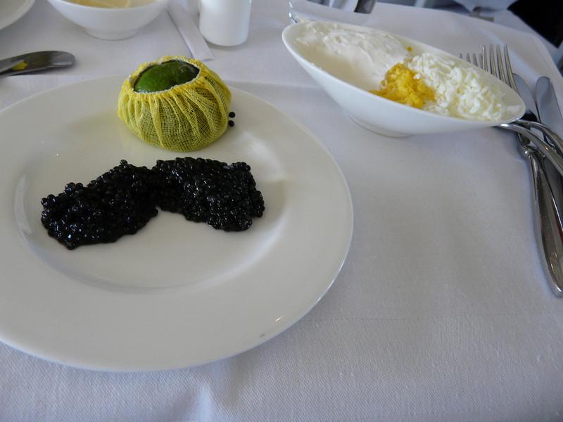 115 caviar and egg and mayo dish