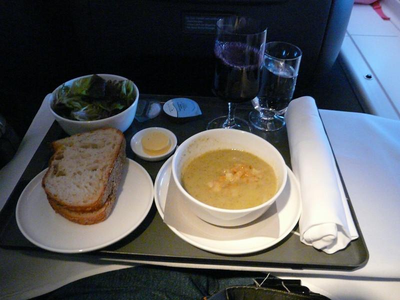 20100604 SYD-SFO 747 broccoli soup