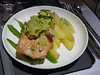 20100519A LAX-SYD A380 dinner salmon