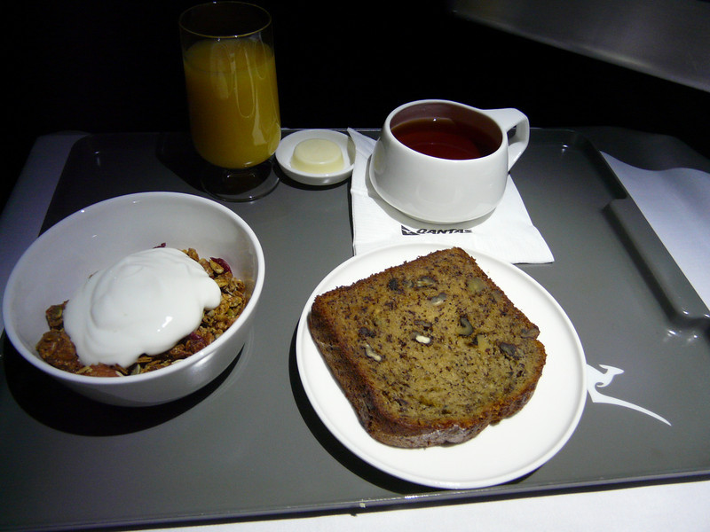 20100519 LAX-SYD A380 breakfast ordered from menu