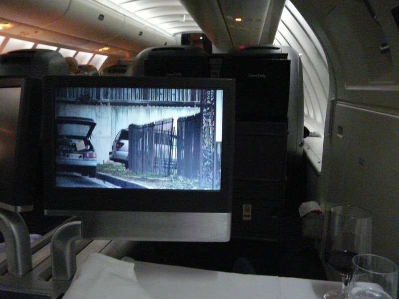 May, 2013, LAX-Sydney 747 upper deck, my individual pop-up video monitor