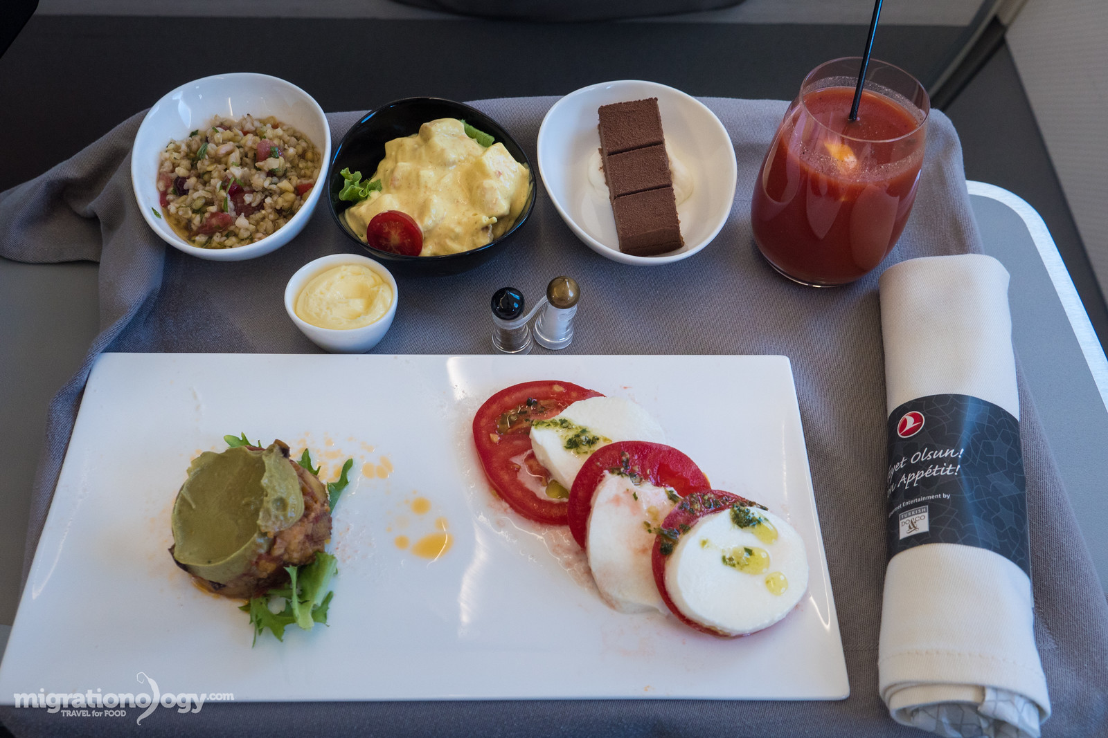 Airplane food on Turkish Airlines