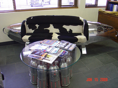 Albatross Float Tank Couch and Jet coffee table