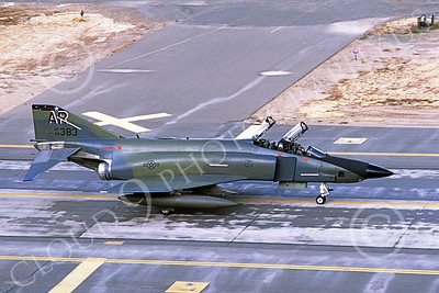 F-4USAF 00141 A taxing McDonnell Douglas RF-4C Phantom II USAF 69383 10th TRW AR code McClellan AFB 10-1985 military airplane picture by Carl E Porter