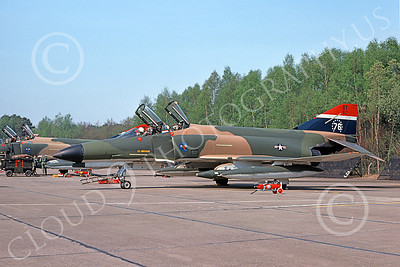 F-4USAF 00093 A static McDonnell Douglas F-4E Phantom II USAF 68517 36th TFW BT code BICENTENNIAL 5-1976 military airplane picture by Wilfreid Zetsche