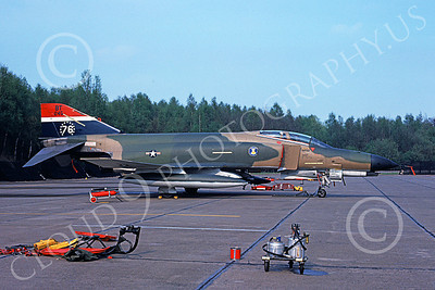 F-4USAF 00209 A static McDonnell Douglas F-4E Phantom II USAF 68245 36th TFW BT code 5-1976 military airplane picture by H J Schroder