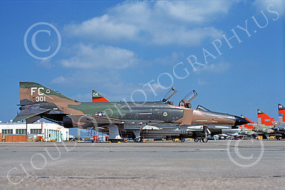 F-4USAF 00107 A static McDonnell Douglas F-4E Phantom II USAF 70301 43rd TFS FC code Tyndall AFB 5-1978 military airplane picture by Ray R Leader
