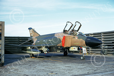 F-4USAF 00225 A static McDonnell Douglas F-4D Phantom II USAF 65747 13th TFS OC code Udorn 12-1972 military airplane picture by Jeff Wallis