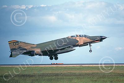 F-4USAF 00116 A landng McDonnell Douglas F-4E Phantom II USAF 69551 51st FW OS code SHARKMOUTH 2-1987 Michael Grove, Sr