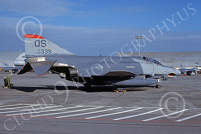 F-4USAF 00157 A static McDonnell Douglas F-4E Phantom II USAF 68339 36th TFS 51st CW OS code SHARKMOUTH Yokota AB 2-1987 military airplane picture by T Matsuzaki