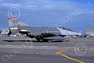 F-4USAF 00239 A static McDonnell Douglas F-4E Phantom II USAF 88336 36th TFS 51st CW OS code SHARKMOUTH Yokota AB 2-1987 military airplane picture by T Matsuzaki