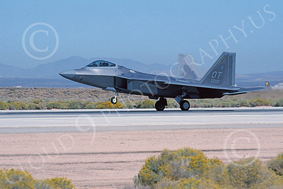 F-22USAF 00059 A landing Lockheed Martin F-22 Raptor USAF 99010 OT code Edwards AFB 11-2003 military airplane picture by Michael Grove, Sr by Michael Grove, Sr