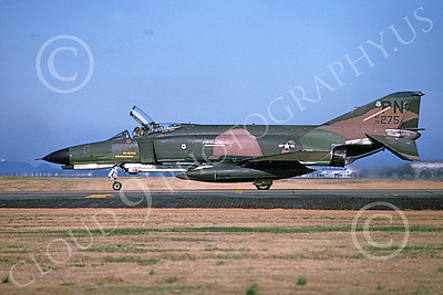 F-4USAF 00135 A taxing McDonnell Douglas F-4E Phantom II USAF 70275 PN code Yokota AB 11-1982 military airplane picture by Toshiki Kudo
