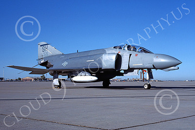 F-4USAF 00473 A static McDonnell Douglas F-4D Phantom II AFRES 66515 SH code 10-1988 military airplane picture by Michael Grove, Sr
