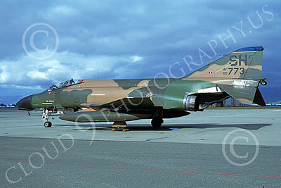 F-4USAF 00119 A static McDonnell Douglas F-4D Phantom II USAF 66773 SH code NAS Moffett 10-1981 military airplane picture by Michael Grove, Sr