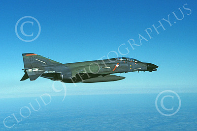 F-4USAF 00360 A flying McDonnell Douglas F-4D Phantom II AFRES 667554 DO code two kills MiG KILLER 11-1984 military airplane picture by Bert Kinzey