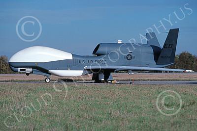 RQ-4USAF 00001 A static Northrop Grumman RQ-4A Global Hawk UAV USAF 95200 ED code 10-2003 by Julian Hill