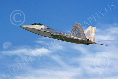 F-22USAF 00484 A flying Lockheed Martin F-22 Raptor 91006 ED code 11-2005 military airplane picture by Michael Grove, Sr