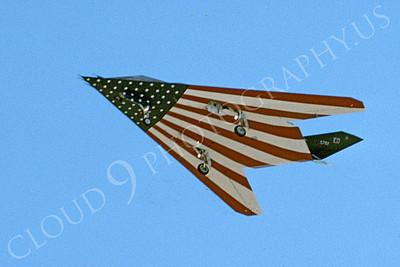 F-117 00034 A landing Lockheed YF-117 Nighthawk USAF 782 ED code 11-2005 airplane picture by Michael Grove, Sr