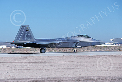F-22USAF 00487 A taxing Lockheed Martin F-22 Raptor 91002 ED code Edwards AFB 10-1999 military airplane picture by Michael Grove, Sr