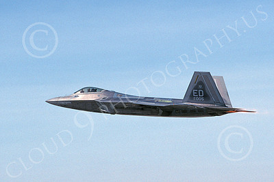 F-22USAF 00482 A flying Lockheed Martin F-22 Raptor 91005 ED code 11-2003 military airplane picture by Michael Grove, Sr