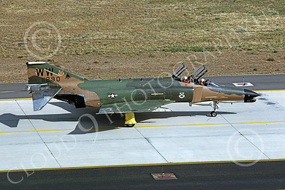 F-4USAF 00263 A taxing McDonnell Douglas F-4G Phantom II USAF 69290 Wild Weasel WW code George AFB 10-1981 military airplane picture by Michael Grove  Sr
