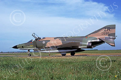 F-4USAF 00131 A taxing McDonnell Douglas RF-4C Phantom II USAF 68595 38th TRS ZR code 6-1980 military airplane picture by Udo Weisse