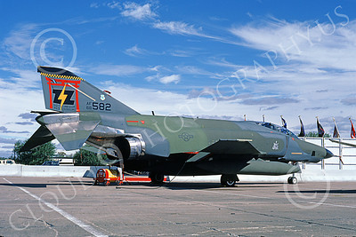 F-4USAF 00089 A static McDonnell Douglas RF-4C Phantom II USAF 68582 418th AGS NO-GUN SHOGUNS RAM 1986 ZZ code 11-1986 military airplane picture by Michael Grove, Sr
