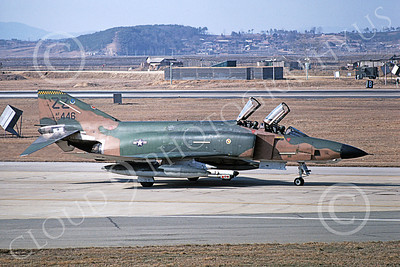 F-4USAF 00287 A taxing McDonnell Douglas RF-4C Phantom II USAF 60446 ZZ code Osan AB 3-1981 military airplane picture by Eugene L Zorn