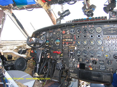 Antonov An-12 Freighter,At Nairobi, Kenya, August 2006,  Cockpit left side. Image# 006