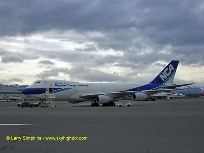 Nippon Cargo, 747 freighter at Anchorage, Alasksa. August 2006