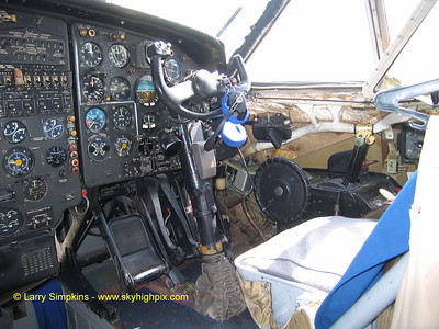 Antonov An-12 Freighter,At Nairobi, Kenya, August 2006, Cockpit right side. Image# 008