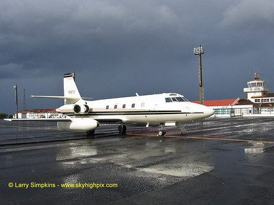 Jetstar N58TS on a rainy afternoon in Santa Maria in the Azores Islands.  This shot was taken in August 2006 during a fuel stop en-route to Africa.