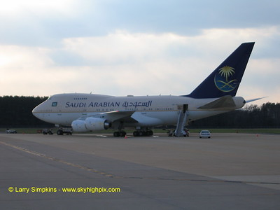 Saudi Arabia, private Boeing 747SP.