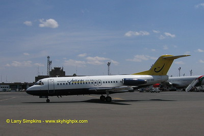 Jetlink, Fokker F28 at Nairobi, Kenya, August 2006. Image# 001