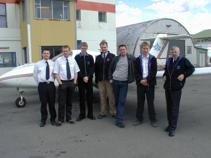 Stebbi Magg, Ásgeir, Rabbi, Siggi Ben, Kjartan, Björn Bragi og Hörður Hafsteins.