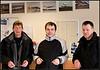 Þrír flugvirkjar. Árni, Hannes og Jón Pálss.