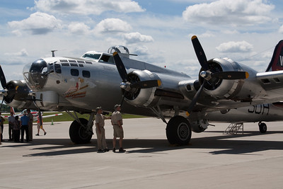 B 17 on Display at JetAir Green Bay WI