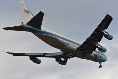 Air force One 2012 landing in Green Bay WI Tail 29000