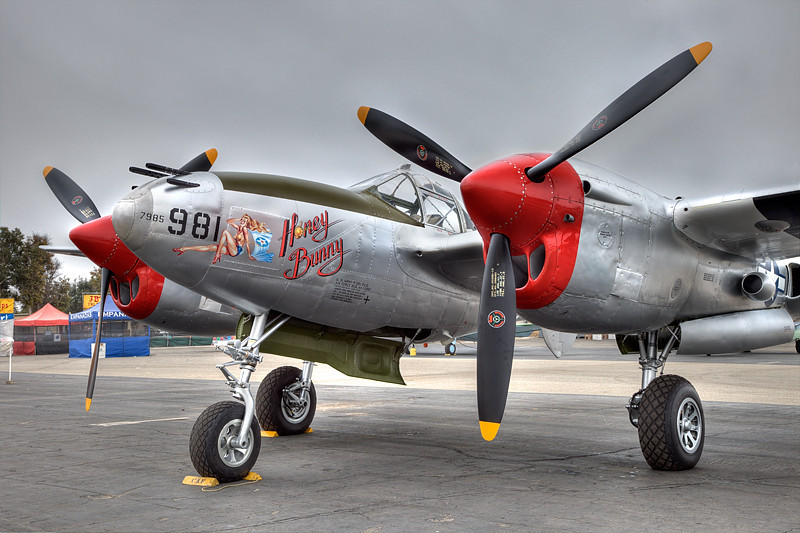 Wings Over Camarillo Airshow, Lockheed P-38 Lightning.