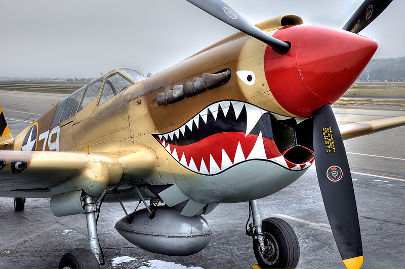 Wings Over Camarillo Airshow, Curtiss P-40 Warhawk.