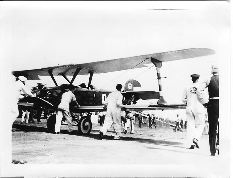 "WW I German Ace Ernst Udet's U12 ""Flamingo"".  Flying D822 performing stunts at the National Air Races."