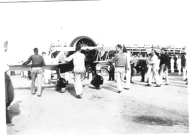 Jimmy Haizlip's Wedell-Williams Racer, crashed the next day - 1933 International Air Race - Chicago, IL
