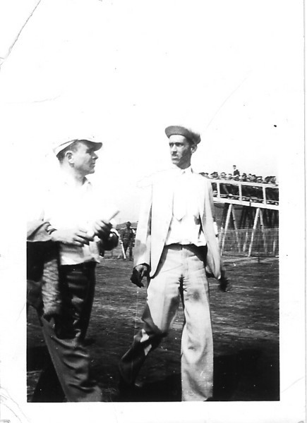 Ben O Howard on right - 1933 International Air Race - Chicago, IL